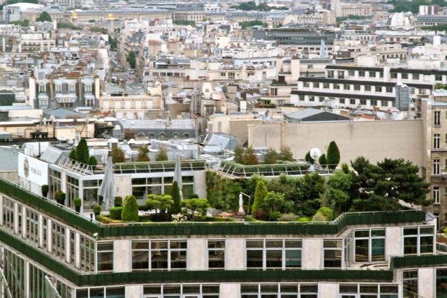 Grădină de acoperiş. Explicit color.